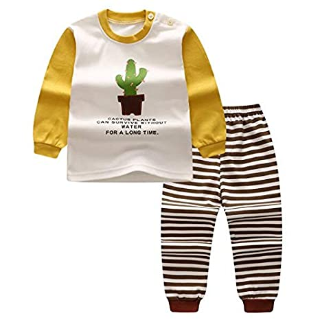 Baby Girl Boy Outfits 2PCS T-shirt+Pants Set Toddler Summer Clothes Tracksuit