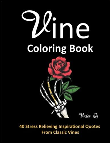 Amazon.com: Vine Coloring Book: 40 Stress Relieving Inspirational ...