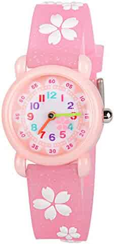 Venhoo Kids Watches 3D Cute Cartoon Waterproof Silicone Children Toddler Wrist Watch Time Teacher Birthday Gift for 3-10 Year Boys Girls Little Child