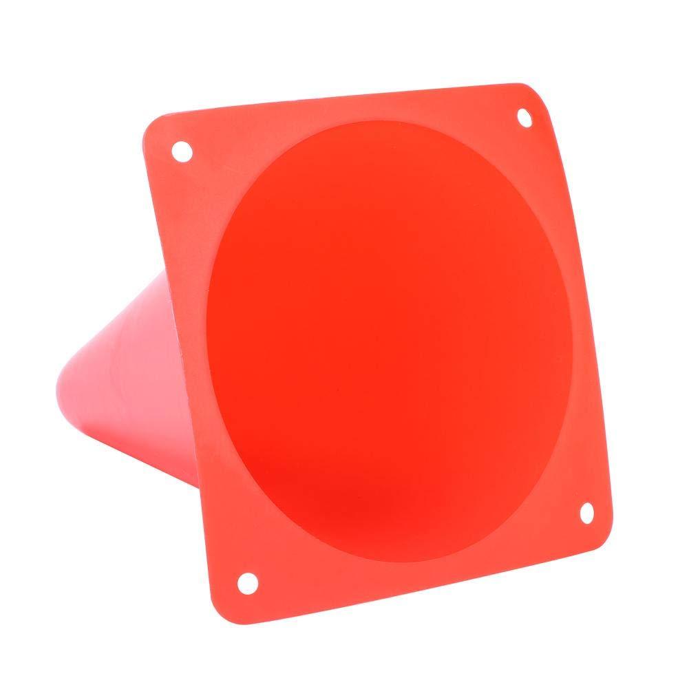 18 cm Coni per agilit/à Interna//Esterna Coni per Pallone Sportivo per Calcio Rotondo Accessori per marcatori in plastica GLOGLOW Coni per Allenamento di Calcio Confezione da 6