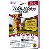 ZoGuard Plus Flea and Tick Prevention Treatment for Dogs, 3 Doses for 3 Months Protection (3 Doses, Large 45-88 lbs)