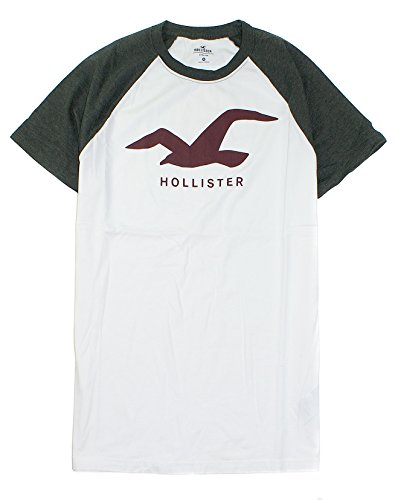 Hollister Men's Soft Graphic Tee HOM-18 (X-Small, White 0945)