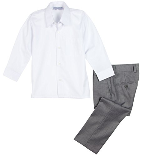 Buy grey dress pants with white shirt - 1