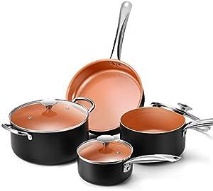 Copper Nonstick Cookware Set