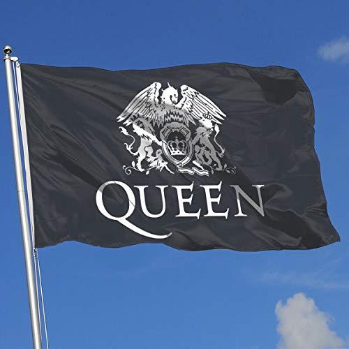 (DFABSUI HGSKSL Queen-Rock-Band Bohemian Rhapsody Home Decoration Flag Garden Flag Indoor Outdoor Flag 3x5 FT)