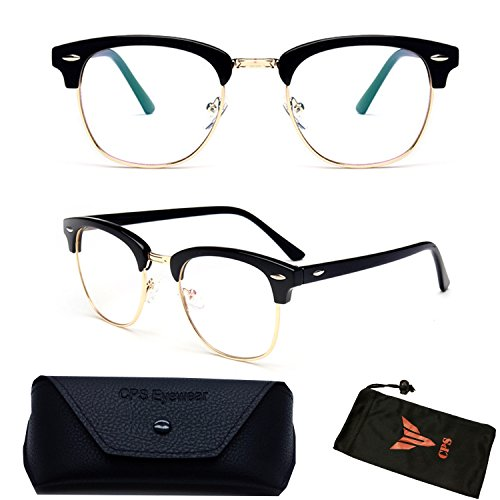 (#RF9053) Premium Quality Clubmaster Retro Reading Glasses (Strength: - Clubmaster Square