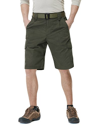 CQR CQ-TSP202-GRN_36 Men's Tactical Lightweight Utiliy EDC Cargo Work Uniform Shorts TSP202 (Clothing Khaki Accessories Womens :)
