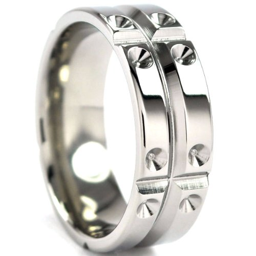 Titanium Ring, Matrix Rings Design, Men's Rings, Titanium Bands