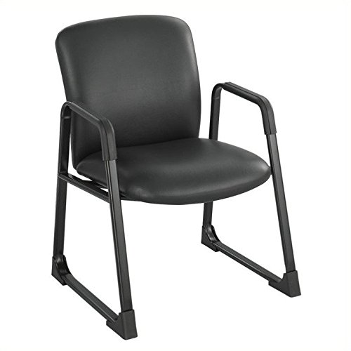 Safco Products 3492BV Uber Big and Tall Guest Chair, Black Vinyl