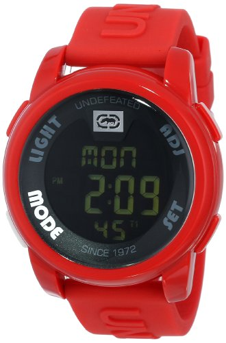 Marc Ecko Men's '20-20' Quartz Stainless Steel and Resin Casual Watch, Color:red (Model: E07503G4)
