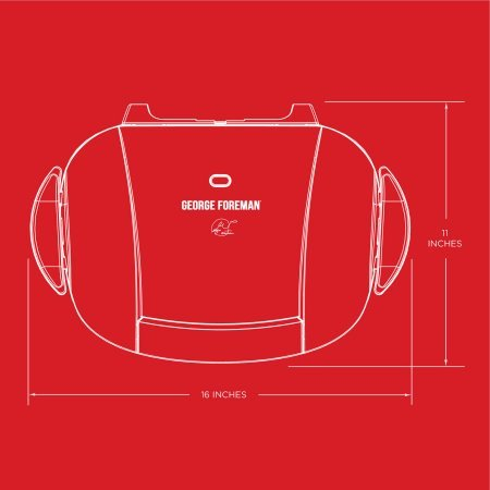 George Foreman 5-Serving Grill with Removable Plates, Red, GRP0004R by George Foreman Grillls (Image #8)