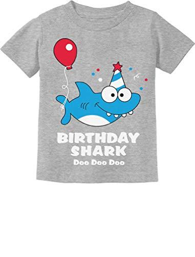 Baby Shark Doo doo doo First/2nd Birthday Shark Outfit Infant Kids T-Shirt 24M Gray]()