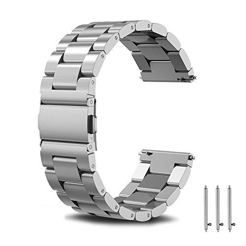 PUBAMALL Para Gear S3 Frontier / Classic Watch Band, 22mm de acero inoxidable Milanese Loop con cierre de cierre ajustable...