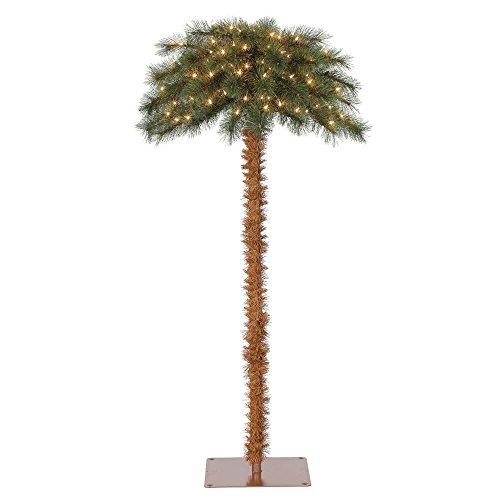 Island Breeze Pre-Lit Artificial Tropical Christmas Palm Tree w/White Lights (Palm Lit Tree Pre)