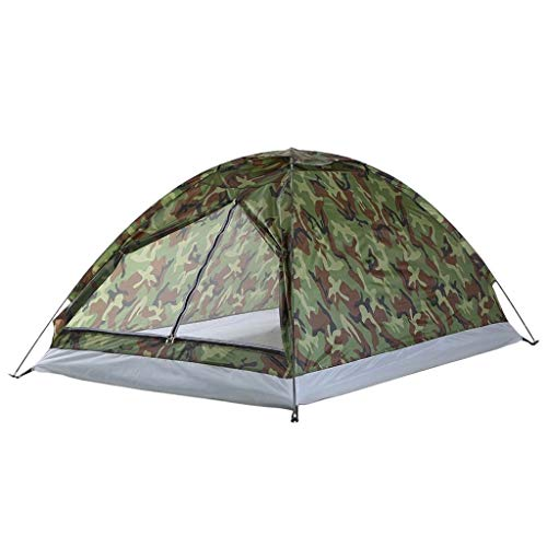 Gbyao Tent 2-Person Tent Ultra-Light Single-Layer Waterproof Camping Tent PU1000mm with Tote Bag Suitable for Hiking