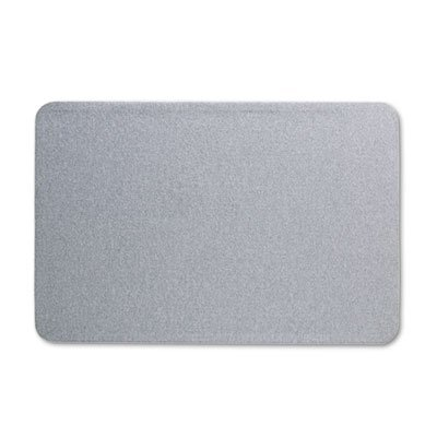 Oval Office Fabric Bulletin Board, 36 x 24, Gray, Sold as 1 Each