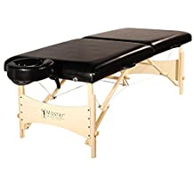 Master Massage Balboa Portable Table Package, Black Luster Upholstery, 30 Inch