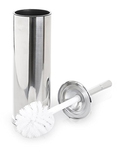 BINO Toilet Brush & Holder with Removable Drip Cup, Polished Chrome by BINO