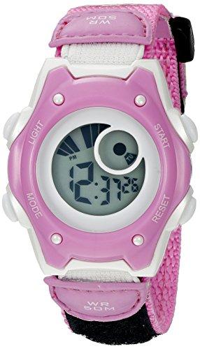 American Design Machine Jr. Kids' ADSG 5003 PNK Hudson Digital Display Quartz Pink Watch (Hardy Watch Ed Women)