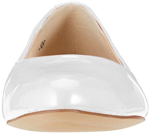Caprice Kvinder 22107 Lukkede Ballerinaer Hvid (hvid Patent 123) AxqpV