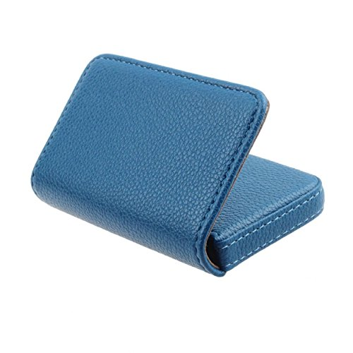 Card Holder, Kemilove Flip Style Leather Business Name Card Wallet / Holder Cards Case with Magnetic Shut (Blue) (Case Card Steel Playing)