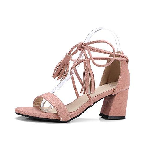 BalaMasa Womens Sandals Dress Light-Weight Urethane Sandals ASL04940 Pink