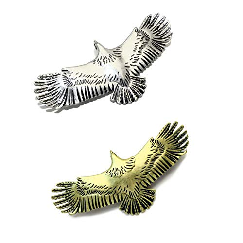 (Hair Clip for Women Girls Vintage Alloy Eagle Wings Hairpin Branches Barrettes)