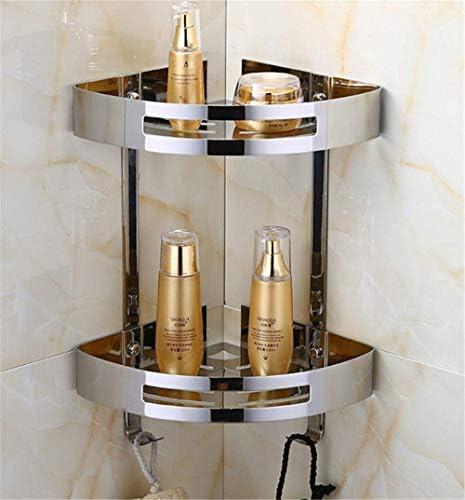 収納ラック棚 シルバーステンレス鋼304多機能丈夫なコーナーバスルームシェルフモダンウォールシェルフバスルームラックアクセサリー 家のホテルの装飾のため