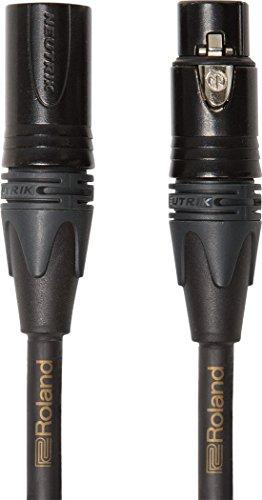 (Roland 3-foot (1m) Neutrik XLR Microphone Cable, Gold Quad series (RMC-GQ3))