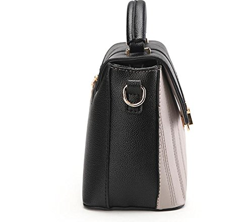 Sac Women'S Meaeo À New Bag Bandoulière Black Simple Flip Messenger Gris TwqYBd