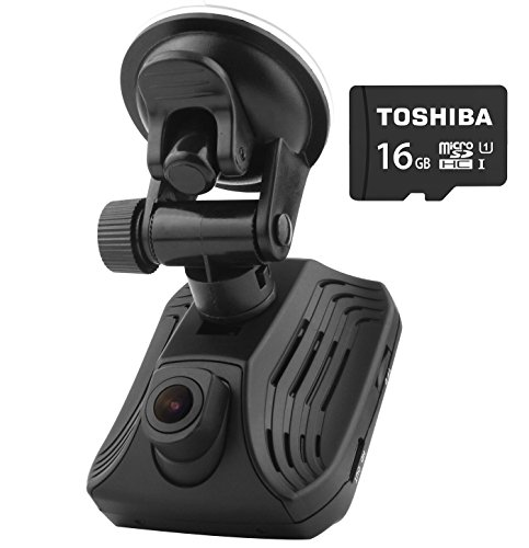 AzDom Dash Cam with Built-in GPS and FREE 16GB Micro SD Card, Ambarella A12 Chip 2560x1440P Full HD Car DVR Camera Video Recorder 2.31 inch Screen HDR and ADAS Technology High Resolution Wide Angle