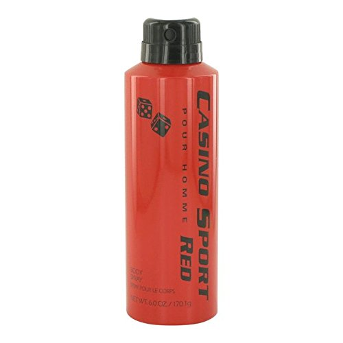 Casino Sport Red by Casino Perfumes Body Spray (No Cap) 6 oz for Men - 100% Authentic ()