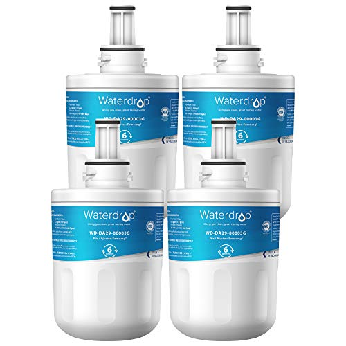 Waterdrop DA29-00003G Refrigerator Water Filter Replacement for Samsung DA29-00003G, Aqua-Pure Plus DA29-00003B, HAFCU1, DA29-00003A, Standard Series, 4 Pack