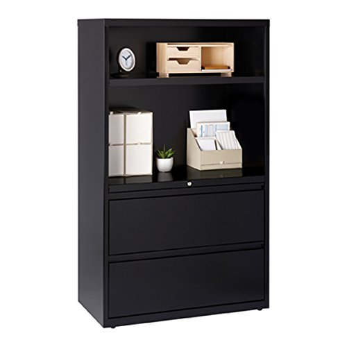 Hirsh HL5000 Series 36-inch Wide 2-drawer 2-shelf Lateral File Cabinet by Hirsh (Image #1)