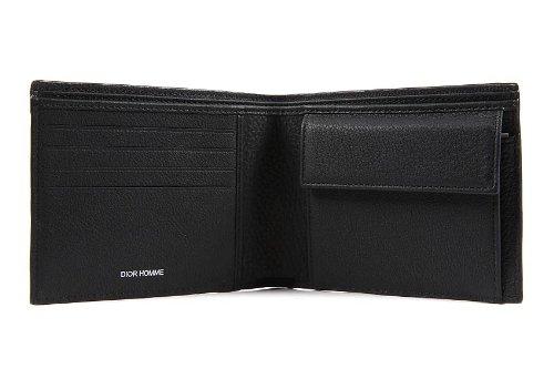 141d3097a57c Dior portefeuille porte-monnaie homme en cuir noir  Amazon.fr  Vêtements et  accessoires