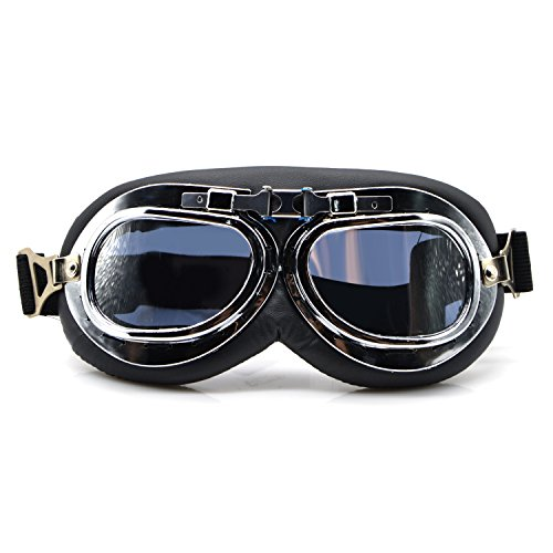 OutFans Costume Glasses Goggles Protective Eye Wear Goggles Face Decoration Goggles for Christmas Eve, Family Gatherings, Birthday Parties, School Cosplay Activities Men and Women (Silver (Wearing A Costume To School)
