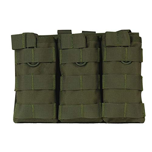 Best Quality - Pouches - Hot New Tactical MOLLE Triple Open-Top Magazine Pouch Fast AK AR M4 FAMAS Mag Pouch Airsoft Military Paintball Equipment New - by DINAX - 1 PCs ()