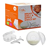 Nippleshield and Breast Shell for Breast Feeding | Nipple Shield in Storage case | Breastfeeding Essentials | Milk Savers or BreastMilk Catcher | Protects Sore Nipples & Collects Breast Milk Leaks …