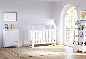 Storkcaft Alpine 4 Drawer Dresser (White) - Stylish Storage Dresser Chest for Bedroom, 4 Spacious Drawers with Handles, Coordinates with Any Kids Bedroom or Baby Nursery