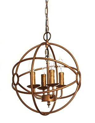 LightLady Studio, Industrial Vintage Orb Chandelier, Sphere Chandelier, Bronze