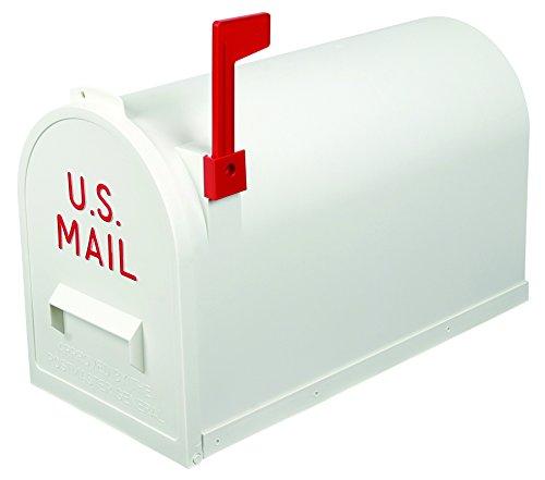 Flambeau T-R7003WT Classic Mailbox, Rural Style, White