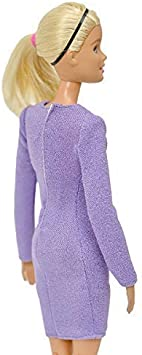 Elenpriv FA-004 Stretch Jersey Mini-Dress Light-Gray Color for 11 1//2 inches Doll Clothes Outfit Fashions for Dolls