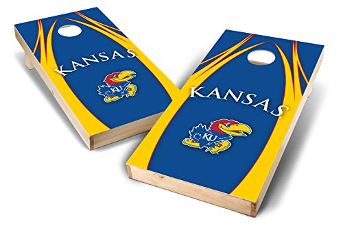 - PROLINE NCAA College 2' x 4' Kansas Jayhawks Cornhole Board Set - Edge