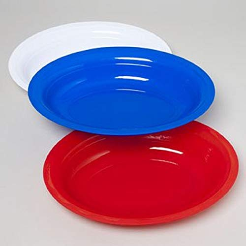 Patriotic Serving Plates (Pack of 3) USA Flag Colors Plastic Oval Serving Platter Set, Serveware For Independence Day, Fourth of July, Memorial Day, Summer Parties Tableware & Party Supply