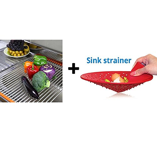 Stainless Steel Roll-Up Dish Drying Rack & Extra Large One-T