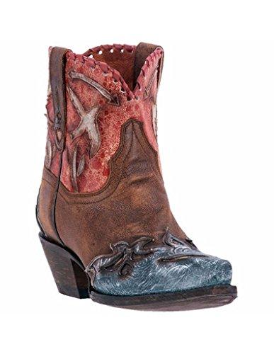 Leather Snip Toe Western Boots (Dan Post Women's Love Bird Boot Snip Toe Brown 8.5 M)