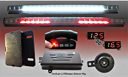 TecScan LiTESeasy Deluxe Golf Cart Remote Control Lights & All Signals Kit ()