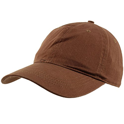 Cotton Ball Cap - Everyday Unisex Cotton Dad Hat Plain Blank Baseball Adjustable Ball Cap Brown