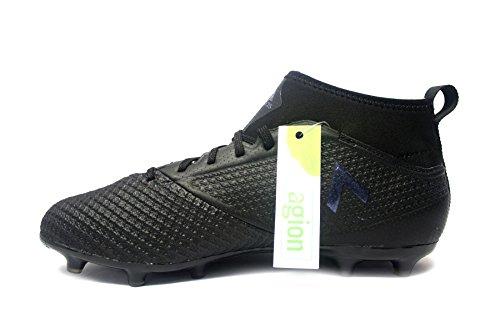 Adidas Originals Mens Ace 17.3 Studi Tacchetti Terra Nucleo Scarpa Da Calcio In Bianco / Nero Nucleo / Utilità Nero