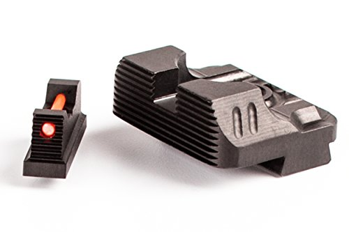 Zev SIGHT.SET-230-FO-COM3-B Sight Set.230 Fiber Optic Front, Combat V3 black Rear